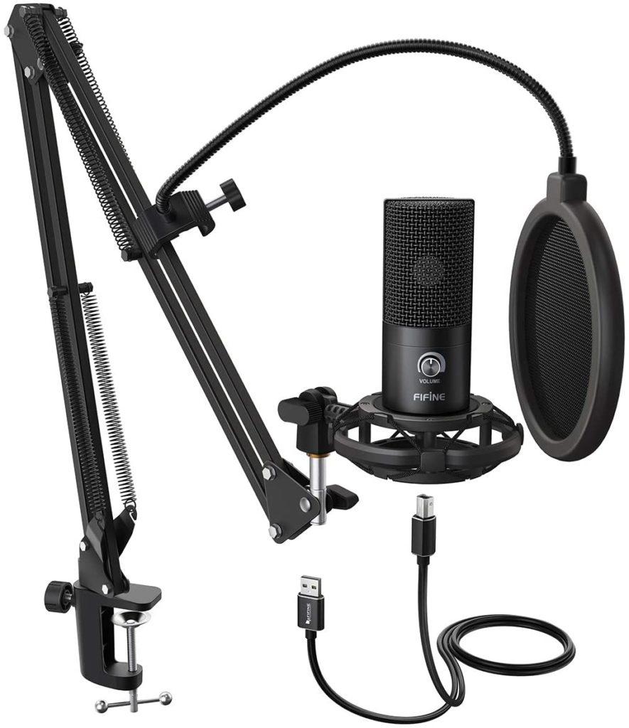 FIFINE Studio Condenser USB Microphone Computer PC Microphone Kit