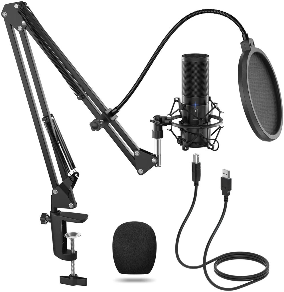 TONOR USB Microphone Kit Q9 Condenser Computer Cardioid Mic for Podcast